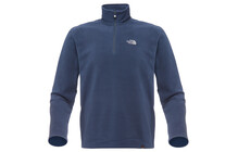 The North Face Men's 100 Glacier 1/4 Zip cosmic blue